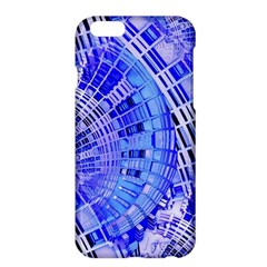 Semi Circles Abstract Geometric Modern Art Blue  Apple Iphone 6 Plus/6s Plus Hardshell Case by CrypticFragmentsDesign