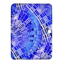 Semi Circles Abstract Geometric Modern Art Blue  Samsung Galaxy Tab 4 (10 1 ) Hardshell Case  by CrypticFragmentsDesign