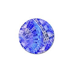 Semi Circles Abstract Geometric Modern Art Blue  Golf Ball Marker (10 Pack) by CrypticFragmentsDesign