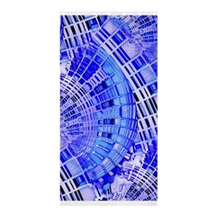 Semi Circles Abstract Geometric Modern Art Blue  Shower Curtain 36  X 72  (stall)  by CrypticFragmentsDesign