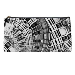 Semi Circles Abstract Geometric Modern Art Pencil Cases by CrypticFragmentsDesign