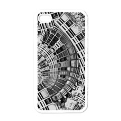 Semi Circles Abstract Geometric Modern Art Apple Iphone 4 Case (white) by CrypticFragmentsDesign