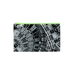 Semi Circles Abstract Geometric Modern Art Cosmetic Bag (xs)