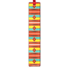 Shapes In Retro Colors Pattern                        			large Book Mark by LalyLauraFLM