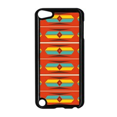 Shapes In Retro Colors Pattern                        			apple Ipod Touch 5 Case (black) by LalyLauraFLM