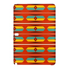 Shapes In Retro Colors Pattern                        			samsung Galaxy Tab Pro 10 1 Hardshell Case