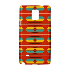 Shapes In Retro Colors Pattern                        			samsung Galaxy Note 4 Hardshell Case by LalyLauraFLM