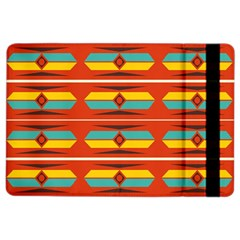 Shapes In Retro Colors Pattern                        			apple Ipad Air 2 Flip Case by LalyLauraFLM