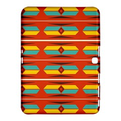 Shapes In Retro Colors Pattern                        			samsung Galaxy Tab 4 (10 1 ) Hardshell Case by LalyLauraFLM