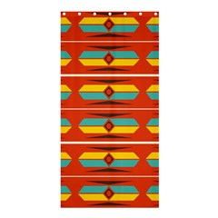 Shapes In Retro Colors Pattern                        	shower Curtain 36  X 72  by LalyLauraFLM