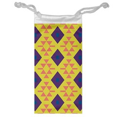 Tribal Shapes And Rhombus Pattern                        Jewelry Bag by LalyLauraFLM