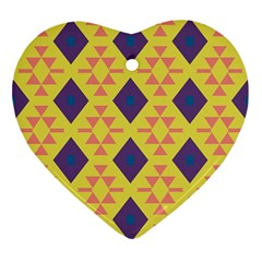 Tribal Shapes And Rhombus Pattern                        			ornament (heart)