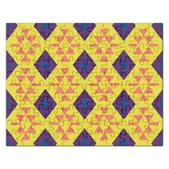Tribal Shapes And Rhombus Pattern                        			jigsaw Puzzle (rectangular) by LalyLauraFLM