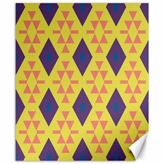 Tribal Shapes And Rhombus Pattern                        			canvas 8  X 10  by LalyLauraFLM