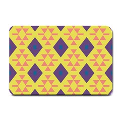 Tribal Shapes And Rhombus Pattern                        			small Doormat by LalyLauraFLM