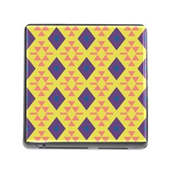Tribal Shapes And Rhombus Pattern                        			memory Card Reader (square) by LalyLauraFLM