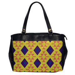 Tribal Shapes And Rhombus Pattern                        			oversize Office Handbag by LalyLauraFLM