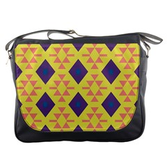 Tribal Shapes And Rhombus Pattern                        			messenger Bag by LalyLauraFLM