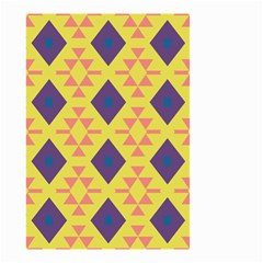 Tribal Shapes And Rhombus Pattern                        Small Garden Flag by LalyLauraFLM