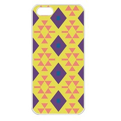 Tribal Shapes And Rhombus Pattern                        			apple Iphone 5 Seamless Case (white) by LalyLauraFLM