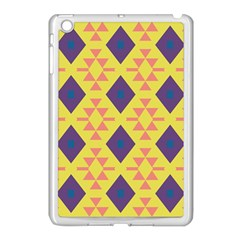 Tribal Shapes And Rhombus Pattern                        			apple Ipad Mini Case (white) by LalyLauraFLM