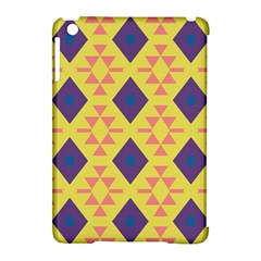 Tribal Shapes And Rhombus Pattern                        			apple Ipad Mini Hardshell Case (compatible With Smart Cover) by LalyLauraFLM