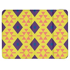 Tribal Shapes And Rhombus Pattern                        			samsung Galaxy Tab 7  P1000 Flip Case by LalyLauraFLM
