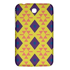 Tribal Shapes And Rhombus Pattern                        			samsung Galaxy Tab 3 (7 ) P3200 Hardshell Case by LalyLauraFLM