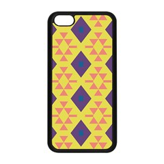 Tribal Shapes And Rhombus Pattern                        			apple Iphone 5c Seamless Case (black) by LalyLauraFLM
