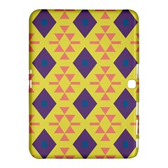 Tribal Shapes And Rhombus Pattern                        			samsung Galaxy Tab 4 (10 1 ) Hardshell Case by LalyLauraFLM