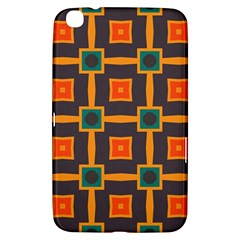 Connected Shapes In Retro Colors                         			samsung Galaxy Tab 3 (8 ) T3100 Hardshell Case by LalyLauraFLM
