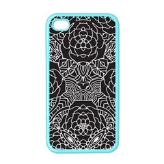 Mariager, Bold Flower Design, Black & White Apple Iphone 4 Case (color) by Zandiepants