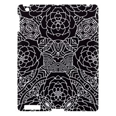 Mariager, Bold Flower Design, Black & White Apple Ipad 3/4 Hardshell Case by Zandiepants