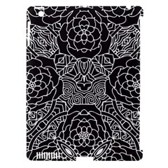 Mariager, Bold Flower Design, Black & White Apple Ipad 3/4 Hardshell Case (compatible With Smart Cover) by Zandiepants