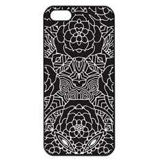 Mariager, Bold Flower Design, Black & White Apple Iphone 5 Seamless Case (black) by Zandiepants