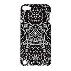 Mariager, Bold Flower Design, Black & White Apple Ipod Touch 5 Hardshell Case by Zandiepants