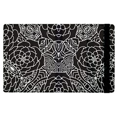 Mariager, Bold Flower Design, Black & White Apple Ipad 2 Flip Case by Zandiepants
