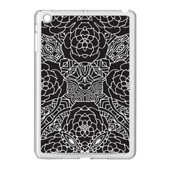 Mariager, Bold Flower Design, Black & White Apple Ipad Mini Case (white) by Zandiepants