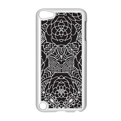 Mariager, Bold Flower Design, Black & White Apple Ipod Touch 5 Case (white) by Zandiepants