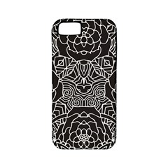 Mariager, Bold Flower Design, Black & White Apple Iphone 5 Classic Hardshell Case (pc+silicone) by Zandiepants
