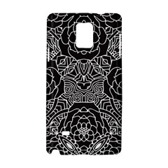 Solid Black Samsung Galaxy Note 4 Hardshell Case by Zandiepants