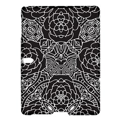 Solid Black Samsung Galaxy Tab S (10 5 ) Hardshell Case  by Zandiepants