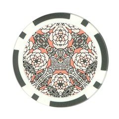 Petals In Vintage Pink, Bold Flower Design Poker Chip Card Guard (10 Pack) by Zandiepants