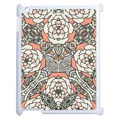 Petals In Vintage Pink, Bold Flower Design Apple Ipad 2 Case (white) by Zandiepants