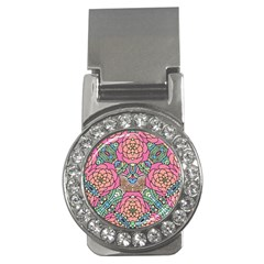 Petals, Carnival, Bold Flower Design Money Clip (cz) by Zandiepants
