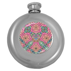 Petals, Carnival, Bold Flower Design Hip Flask (5 Oz) by Zandiepants