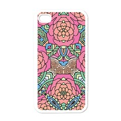 Petals, Carnival, Bold Flower Design Apple Iphone 4 Case (white) by Zandiepants