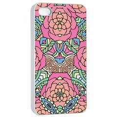 Petals, Carnival, Bold Flower Design Apple Iphone 4/4s Seamless Case (white) by Zandiepants