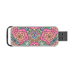 Petals, Carnival, Bold Flower Design Portable Usb Flash (two Sides) by Zandiepants