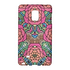 Petals, Carnival, Bold Flower Design Samsung Galaxy Note Edge Hardshell Case by Zandiepants